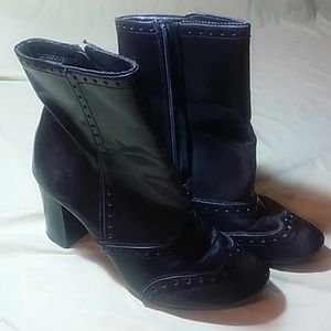 Retro-Style Vegan Leather Short Boots